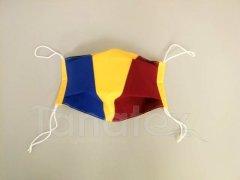 Textilní rouška tříbarevná - 2vrstvá s kapso
