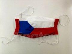 Bavlněná rouška - česká vlajka
