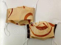 Rouška - Pískové kruhy - 2vrstvá s kapsou designové roušky