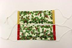 Rouška - Vánoční větvičky designové roušky