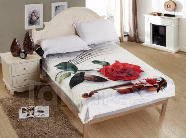 Deka mikro s beránkem - Růže - 150x200