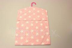 Kapsář na ramínko - hvězdy na růžové kapsář do školy