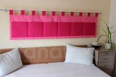 Kapsář - Středně růžový - sytě růžový kapsář velký