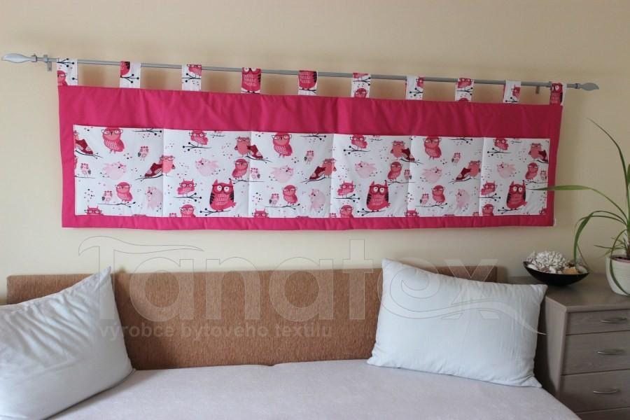 Kapsář - Růžový - sovičky - kapsář velký