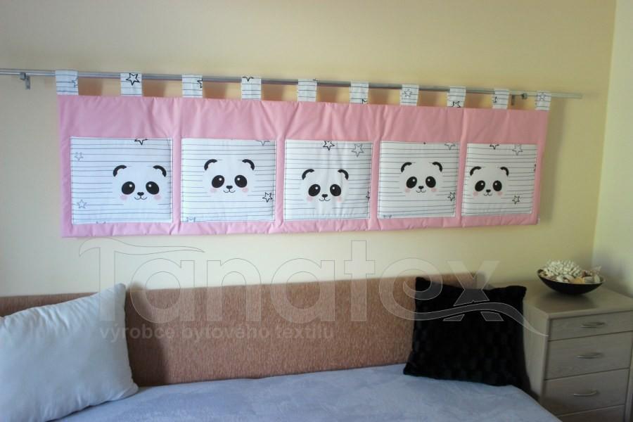Kapsář - Růžový s pandou