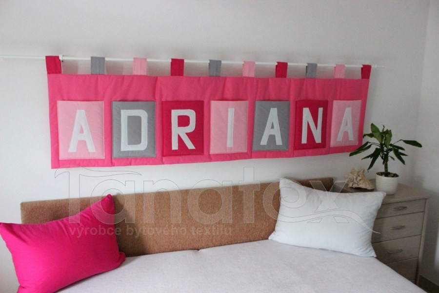 Kapsář se jménem - na zakázku ADRIANA - růžový