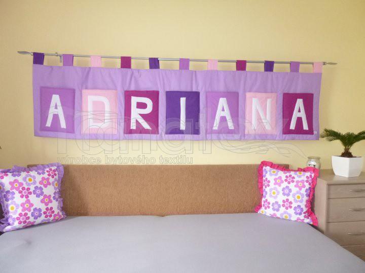 Kapsář se jménem - na zakázku ADRIANA - fialový