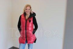 Luxusní dámská vesta - PL - červená Dámské oděvy