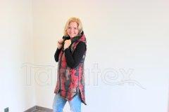 Luxusní dámská vesta - PL - maskáč červený Dámské oděvy