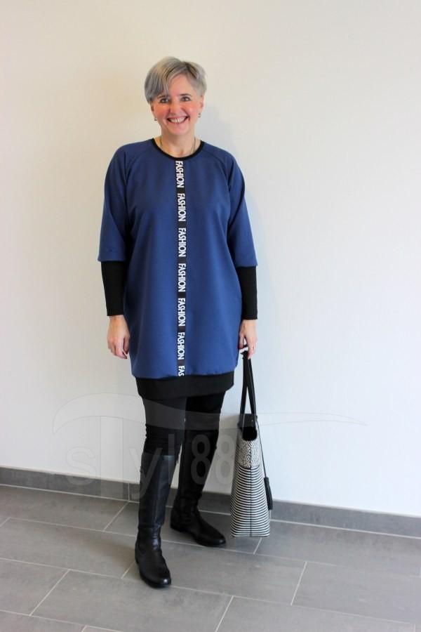 Šatotunika Fashion - modrá