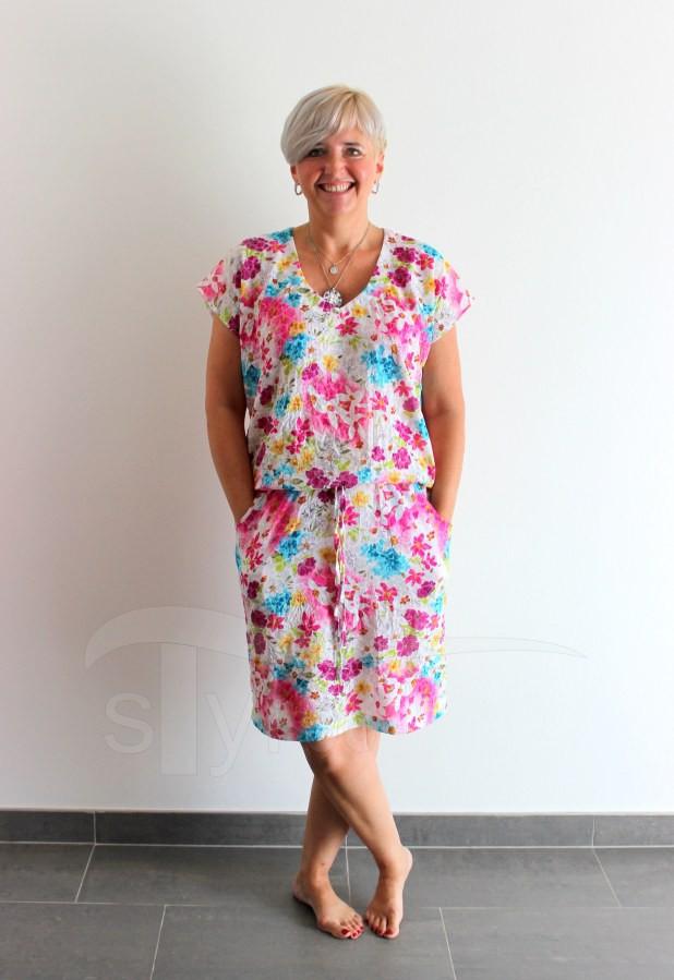 Letní šaty do gumy louka - Letní šaty do gumy