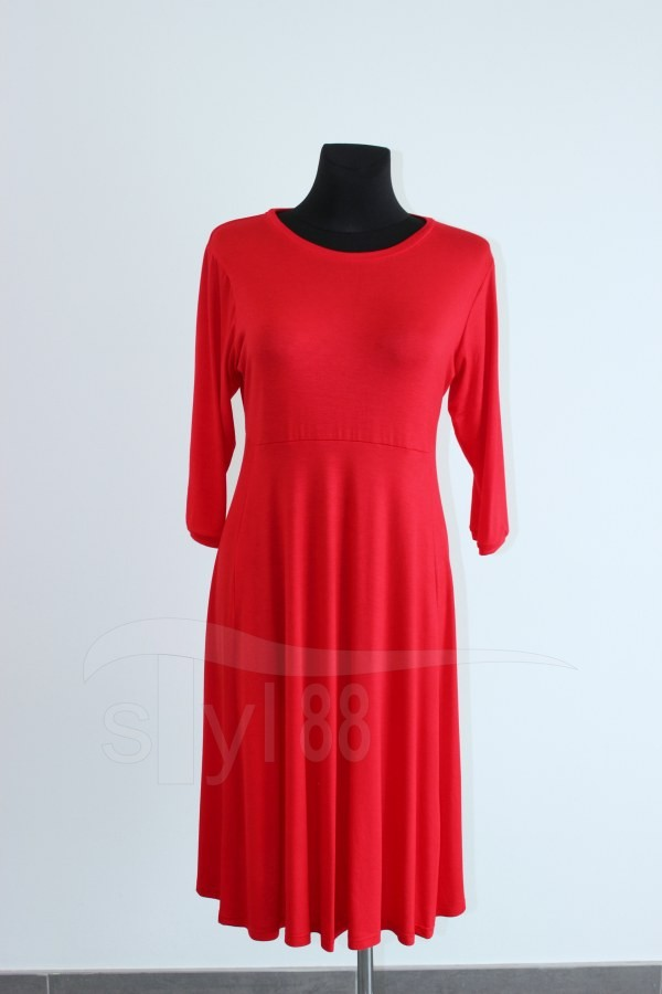 Úpletové šaty Uni červené