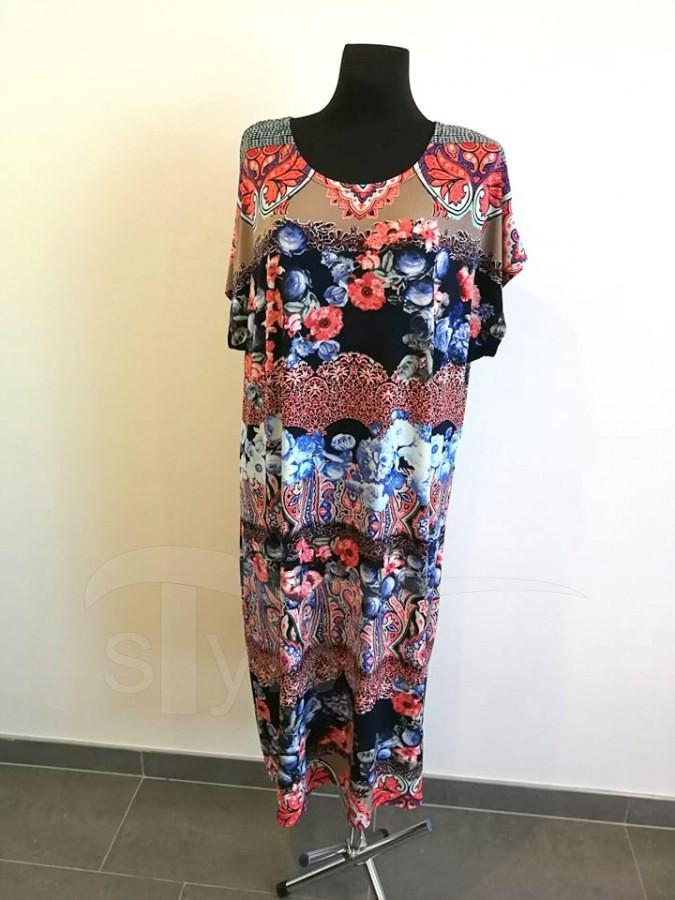 Úpletové šaty Korálové květy