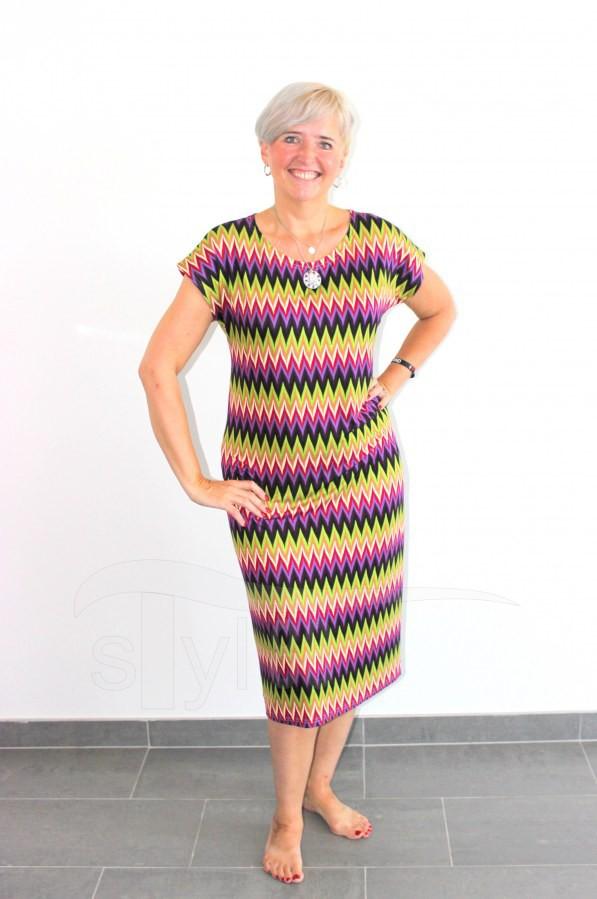 Úpletové šaty Cik cak fialový - Úpletové šaty