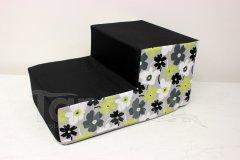 Schody pro psa Zelené a šedé kytky Schody pro psy