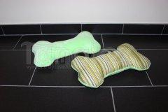 Polštářek kostička - zelená s pruhy Polštářky