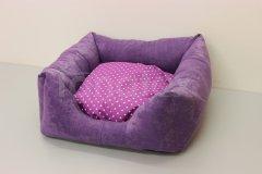 Čtveráček malý - broušený polyester Fialový - fialový puntík Pelech - Čtveráček