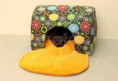 Tunel lux - Kytičky barevné Pelech - Tunel - de luxe - omyvatelný