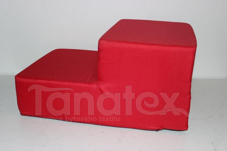 Schody pro psa uni červené