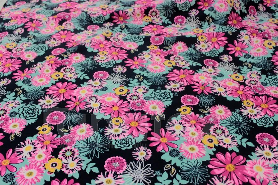 Tunel Pestré květy růžovotyrkysové