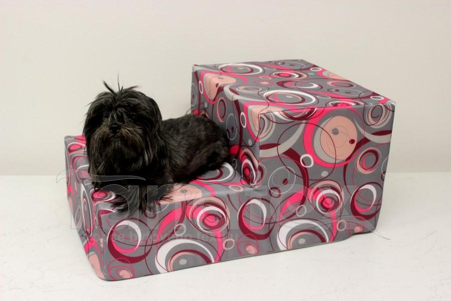 Schody pro psa Elipsy růžovošedé - Schody