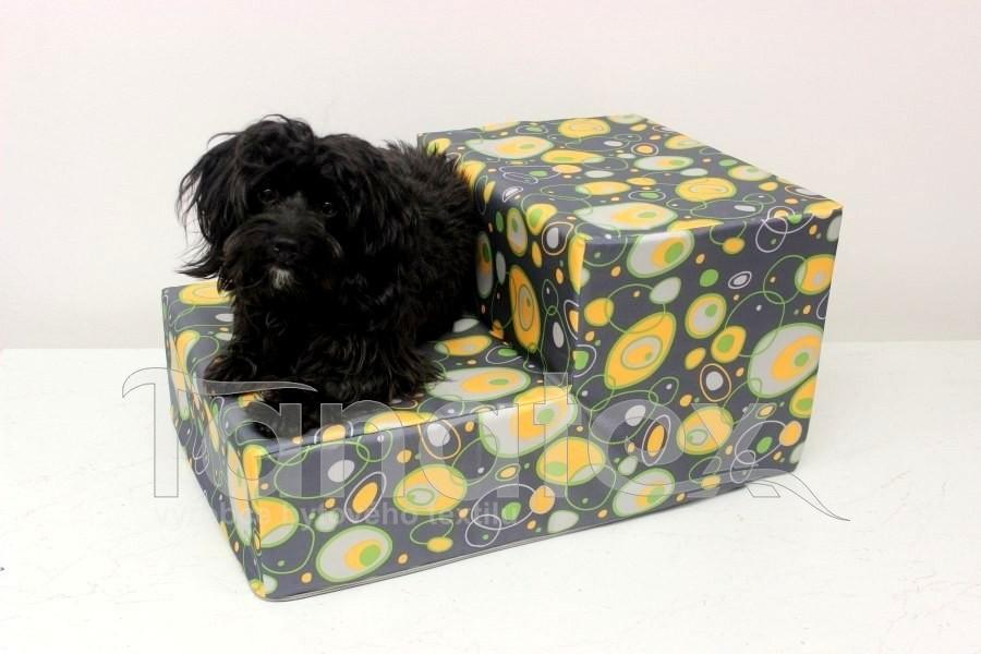 Schody pro psa Elipsy žlutooranžové