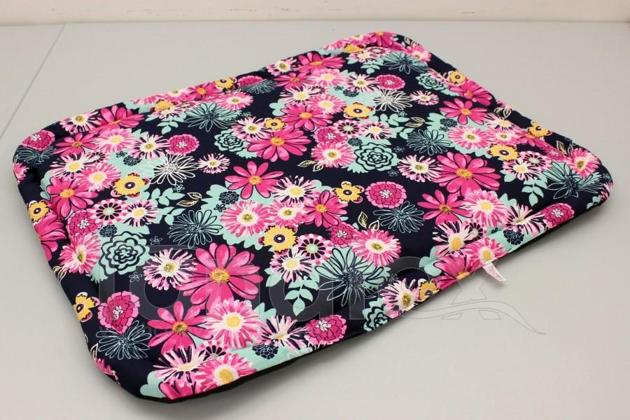 Omyvatelná podložka - pestré květy růžovotyrkysové