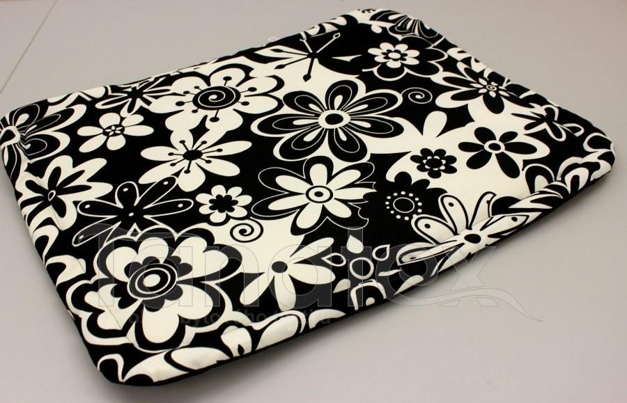 Podložka klasik - černobílé květy