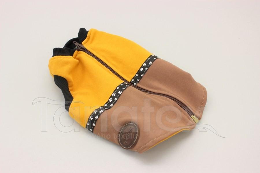 Obleček pro psa - vesta dvoubarevná - velikost 3