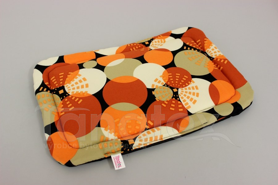 Podložka klasik - cca 43,5x31 - Oranžové bubliny