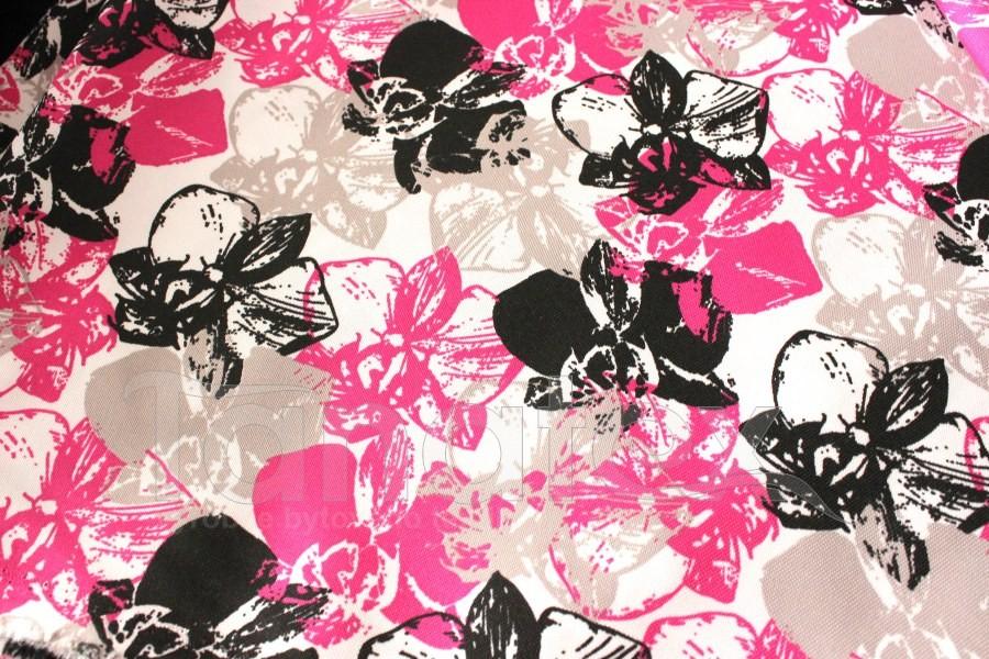 Náhradní potah na schody Růžové květy s černou