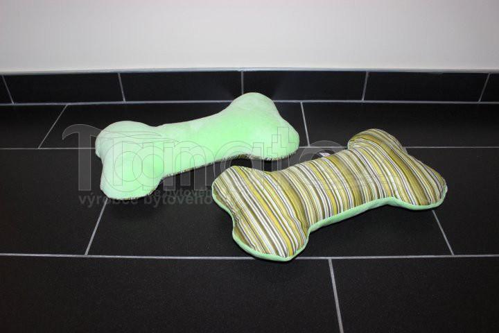 Polštářek kostička - zelená s pruhy - Polštářky