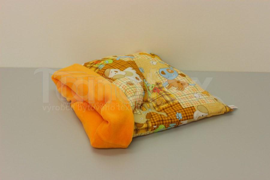 Chumlací pytel - malý - Pejsek a kostička se žlutooranžovou - Chumlací pytel malý