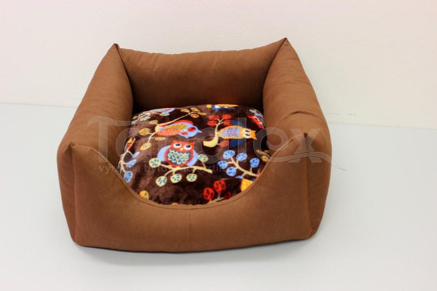 Čtveráček malý - bavlněný Uni hnědý - mikro sovičky
