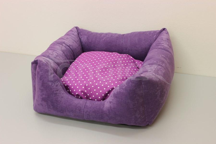Čtveráček malý - broušený polyester Fialový - fialový puntík - Čtveráček