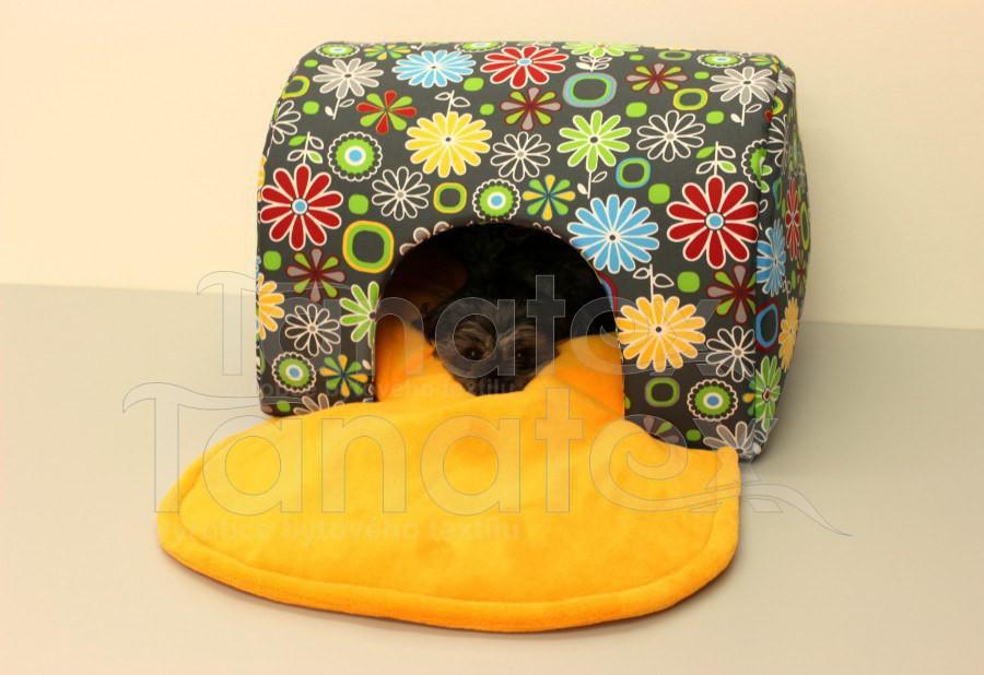 Tunel lux - Kytičky barevné - de luxe - omyvatelný