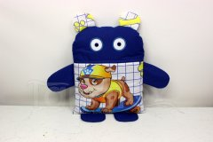 Pyžamožrout - Královsky modrý s pejskem v čepici