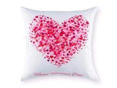 Polštář Valentýn - srdce ze srdíček Na Valentýna