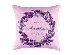 Polštář věneček s levandulí na fialové Levandule