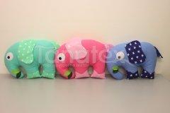 Polštářek bavlněný slon Zvířátka