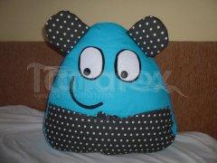 Polštářek - bavlněný velký Pou s ušima - tyrkysový Polštář POU - Pou polštářek velký - Pou velký klasik