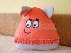 Polštářek - bavlněný velký Pou se sukýnkou - korálový Polštář POU - Pou polštářek velký - Pou velký klasik