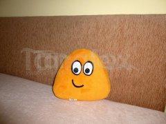 Polštářek - mikro mini Pou - žlutooranžový Polštář POU - Pou polštářek mini