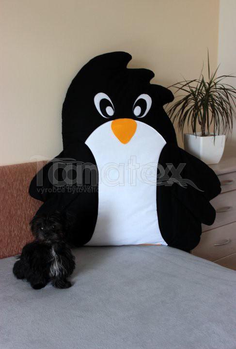Polštářek bavlněný tučňák maxi - Zvířátka