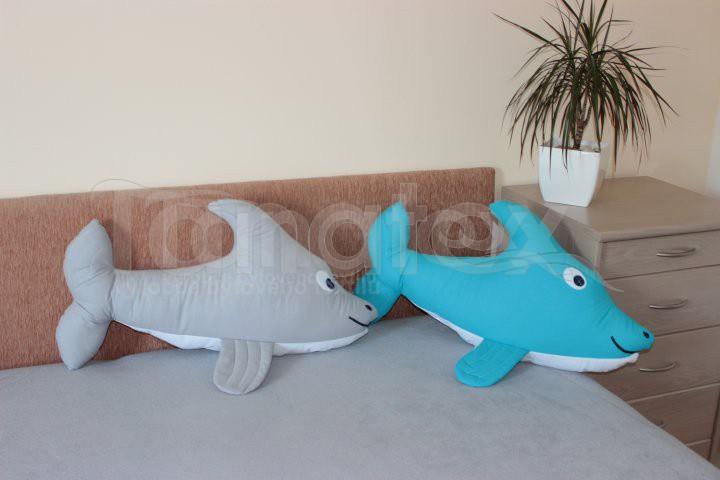 Polštářek bavlněný delfín - Zvířátka