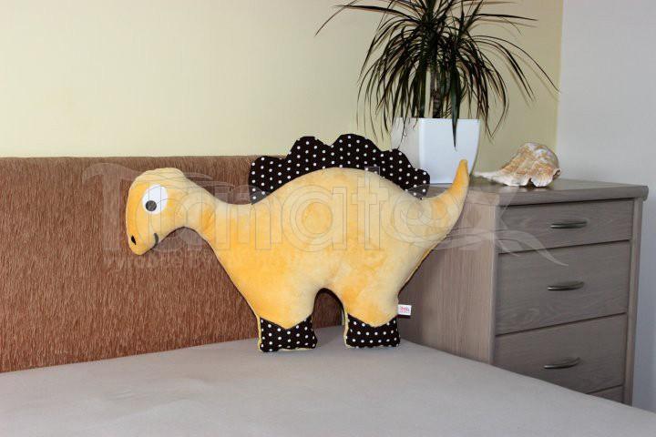 Polštářek mikro nebo bavlna dinosaurus banánový