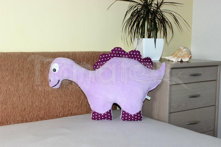 Polštářek mikro nebo bavlna dinosaurus fialový