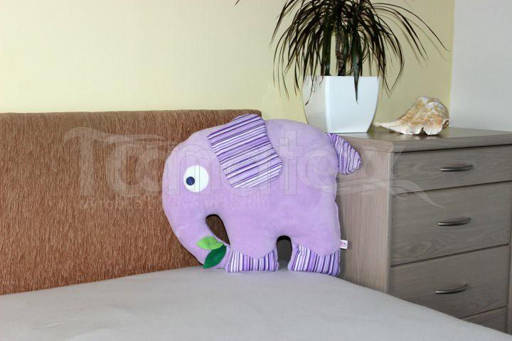 Polštářek mikro slon fialový - Zvířátka