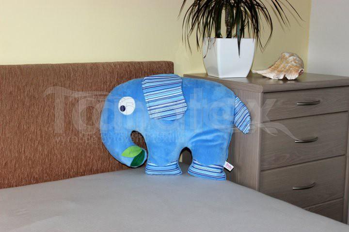 Polštářek mikro slon modrý - Zvířátka
