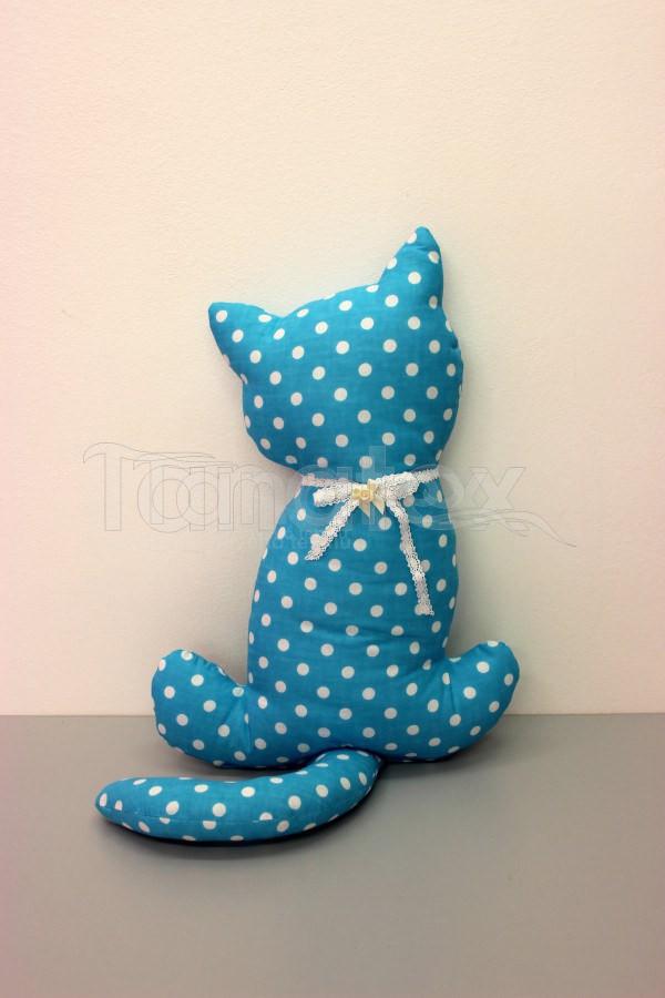 Polštářek bavlněný kočka s ocasem - Zvířátka
